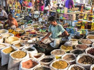 Indian spices traders market